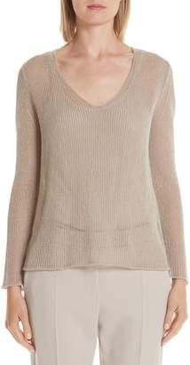 Max Mara Metallic Knit Pullover
