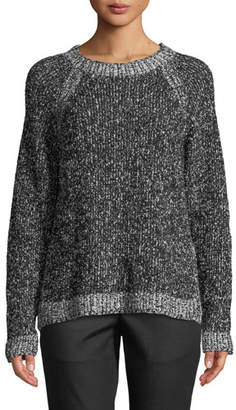Eileen Fisher Organic Cotton Boucle Short Box Sweater