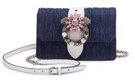 Miu Miu Embellished Mini Crossbody Bag