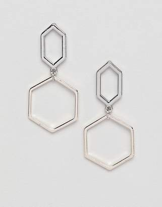 Missguided silver drop earrings