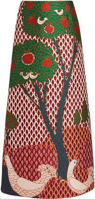 REDVALENTINO Fantasy Landscape-jacquard maxi skirt $965 thestylecure.com