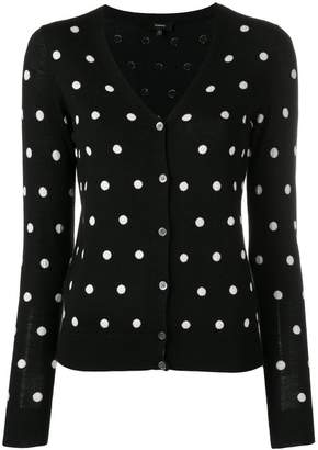 Theory polka dot cardigan