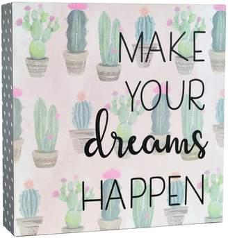 """Belle Maison """"Dreams"""" Cactus Box Sign Art"""