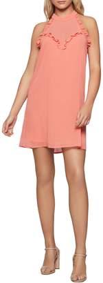 BCBGeneration Ruffle Halter A-Line Dress