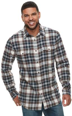 78eee59603 Sonoma Goods For Life Men's SONOMA Goods for Life Modern-Fit Plaid Flannel  Button-