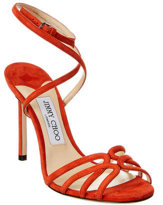60c9fdb7d64 Jimmy Choo Orange Ankle Strap Women s Sandals - ShopStyle