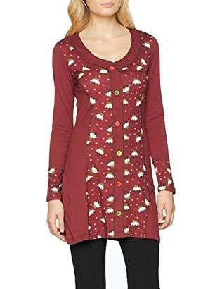 Joe Browns Women's Christmas Pudding Tunic Long Sleeve Top, Wine Red B, (Size:)
