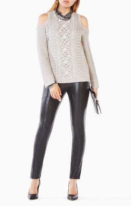 BCBGMAXAZRIA Arlene Cold-Shoulder Sweater