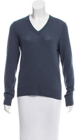 prada Prada V-Neck Cashmere Sweater