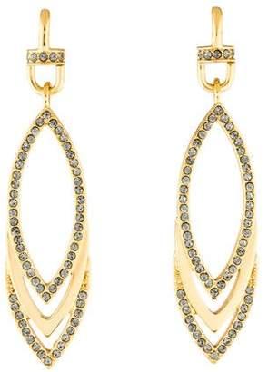 Paige Novick Crystal Triple Marquis Veronica Drop Earrings