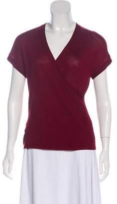 Saint Laurent Cashmere Short Sleeve Sweater