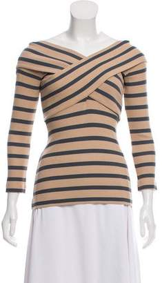 L'Agence Cold-Shoulder Striped Top w/ Tags