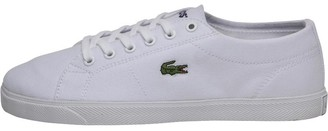 7521bd099989 Lacoste Womens Riberac Canvas Trainers White White