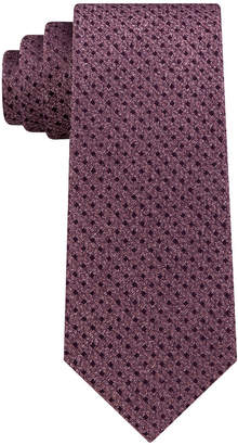 Calvin Klein Men's Seasonal Mini Square Slim Silk Tie
