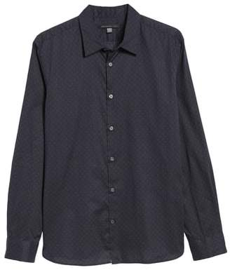 John Varvatos Diamond Print Sport Shirt