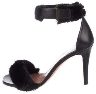 Celine Mink Ankle-Strap Sandals