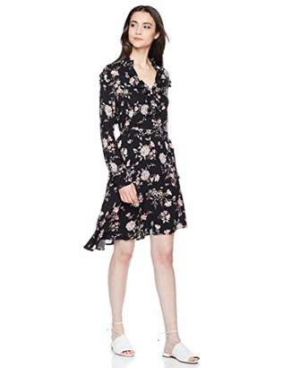 Elise Bloom Women's Elegant Floral V Neck Vacation Dress