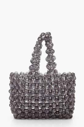 boohoo Mini Beaded Shopper Bag