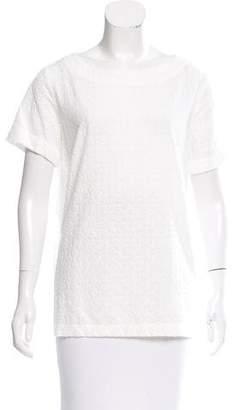 Massimo Alba Eyelet Short Sleeve Top w/ Tags