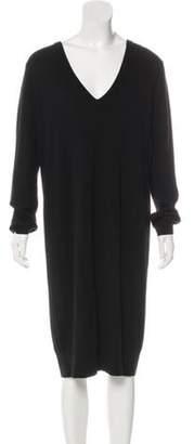 Proenza Schouler Wool Midi Dress Black Wool Midi Dress