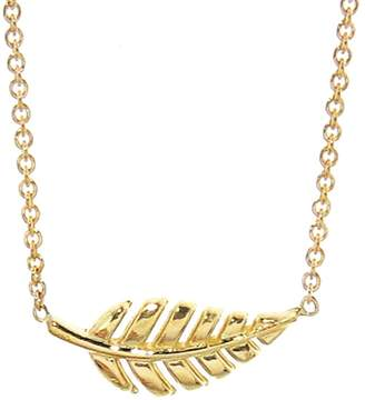 Jennifer Meyer Mini Leaf Necklace - Yellow Gold