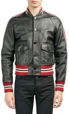 Saint Laurent Leather Racing Jacket
