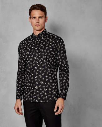 712c6ab8aea1 ... Ted Baker ISLEOV Palm tree print cotton shirt