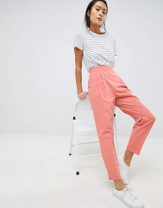Asos Design DESIGN high waist tapered trousers