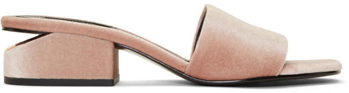 Alexander Wang Pink Velvet Lou Slides