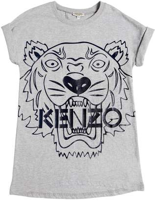 Kenzo Tiger Printed Cotton Jersey Dress