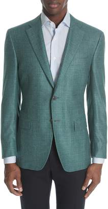 a894018869d Canali Siena Classic Fit Check Silk   Cashmere Sport Coat