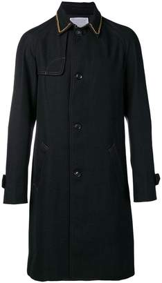 Kolor chain collar single-breasted coat