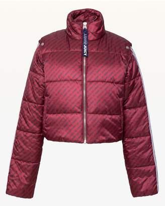 Juicy Couture JXJC Repeat Juicy Snap Off Sleeve Puffer Jacket