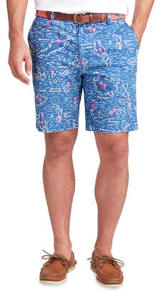 Vineyard Vines 9 Inch Map Of The Islands Breaker Shorts