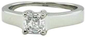 Platinum Marina Asscher Diamond Ring