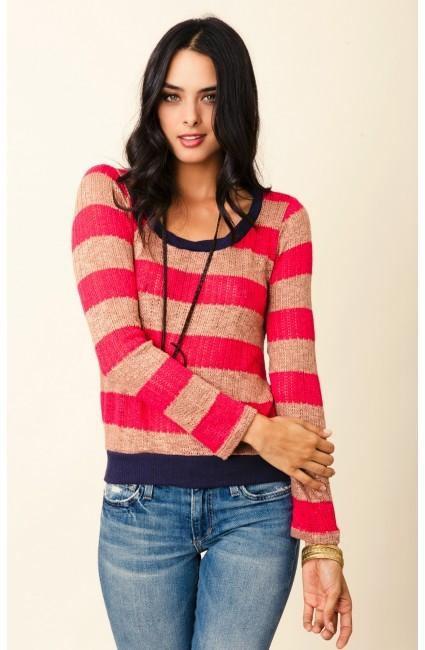 splendid Bristol Stripe Loose Knit Sweater