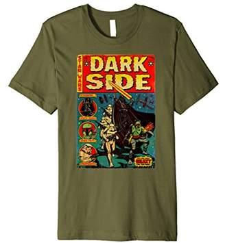 Star Wars Mens Vader Dark Side Retro Comic Cover Premium T-Shirt 2XL