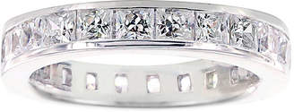 FINE JEWELRY Diamonart Princess Cubic Zirconia Sterling Silver Eternity Band Ring