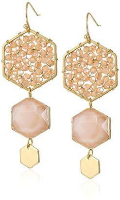 Panacea Crystal Stone Linear Earrings