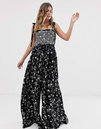 Free People Color My World printed jumpsuit