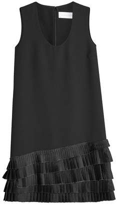 Victoria Beckham Victoria Shift Dress with Pleated Hem