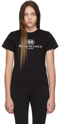Balenciaga Black BB Mode Semi Fitted T-Shirt