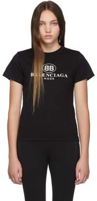 Balenciaga (バレンシアガ) - Balenciaga ブラック BB Mode セミ フィット T シャツ