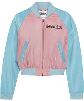 Moschino + My Little Pony Appliquéd Lurex Bomber Jacket - Blue