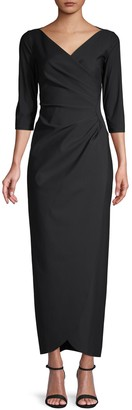 Alex Evenings V-Neck Evening Gown