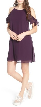 Women's Soprano Tie Sleeve Cold Shoulder Dress $45 thestylecure.com