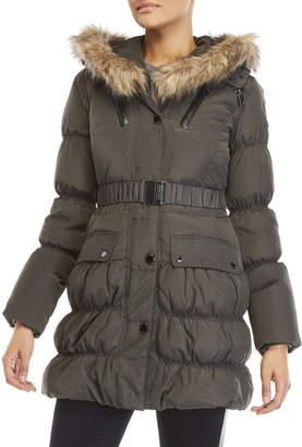 Atelier Noir By Rudsak Faux Fur Trim Sally Down Coat