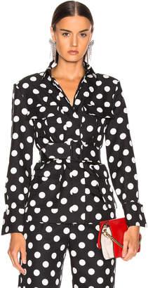 Rebecca De Ravenel Field Jacket in Black & White Dots | FWRD