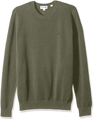 Lacoste Men's Long Sleeve Pique Mesh Effect Sweater