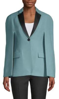 Valentino Wool-Blend Cape Jacket